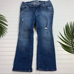 Torrid Distressed Boot Cut Jeans 12 XS